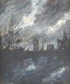 Circle of Hendrik Jan Wolter (Dutch 1873-1952), 'View of Dordrecht'