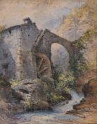 William Callow (British 1812-1908), 'The Watermill'