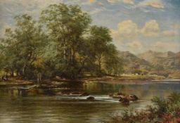 Circle of Benjamin Williams Leader (British 1831-1923), 'The Stream in Summer Time'