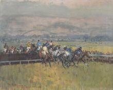 λ Peter Biegel (British 1913-1988), 'Fred Wittington Memorial Race Cheltenham'