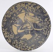 A William De Morgan style pottery charger
