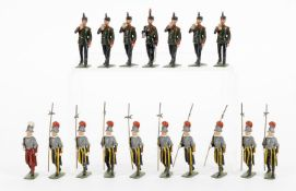 Britains Swiss Papal Guards and Kings Royal Rifle Corps
