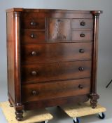 An early Victorian mahogany 'Scotch' chest