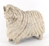 Jill Ratel (Atelier du Douire) a modern stoneware figure of a ram