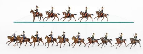 Britains lead figures from various Hussars sets