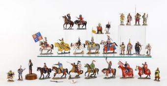 Del Prado models of Medieval Warriors and Japan Samurai figures