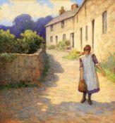 λ Herbert Whewell (British 1863-1951), 'Girl on a country land'
