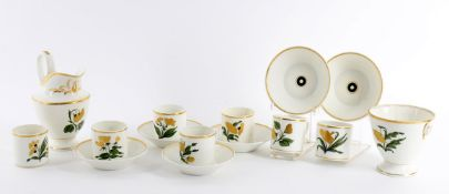 A Paris porcelain part coffee service