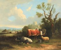 Follower of Charles Towne 'Cattle in landscape'