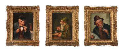 Heinrich Stelzner (German 1833-1910), Three studies of men