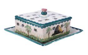 A Wemyss pottery honey box