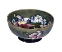A Walter Moorcroft Orchid pattern bowl