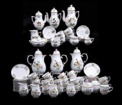 A group of Hungarian coffee and tea wares comprising Herend and Hollóháza