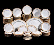 A Royal Worcester crested part dinner service