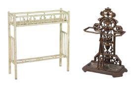 A cast iron stick stand