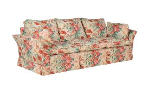 An upholstered sofa in late 19th century style