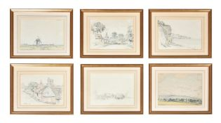 James H. Morton (British 1881-1918), A set of eleven views