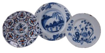 A Bristol delft polychrome charger