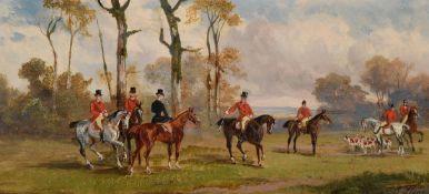 Robert Stone (British 1820-1870), A pair of hunting scenes