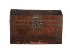 A studded leather trunk