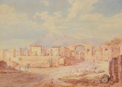 Rudolf Muller (1802-1865) & Friedrich Horner (1800-1864), The Forum at Pompeii