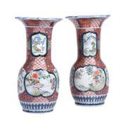 A pair of Arita vases