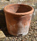 A Victorian terracotta herb planter