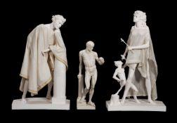 λ Anthony McCue, a group of three plaster figures