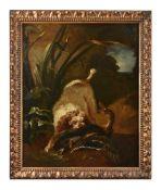 Follower of Jean Baptiste-Oudry, Spaniel on the hunt