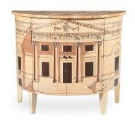An Italian painted side cabinet