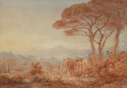 Rudolf Muller (1802-1865) & Friedrich Horner (1800-1864), A mountainous Italianate Landscape