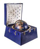Gautier, Geneva, a gilt metal mounted specimen hardstone globe