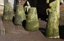 A set of four Portland stone driveway markers