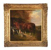 Follower of John Frederick Herring Snr., A pair of hunting scenes