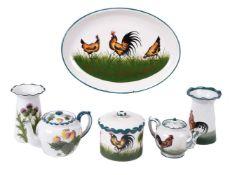 Four items of Wemyss pottery