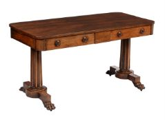 Y A Regency rosewood centre or library table