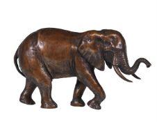 D. Greig ( South African b. 1959), a bronze model of a bull elephant
