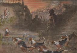 Charles Johnson Payne (Snaffles) (British 1884-1967), That Far Far-Away Echo; Pass Friend