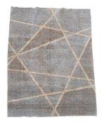 A Kashan carpet with contemporary geometric design