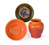 A Pilkington's Royal Lancastrian vase and bowl