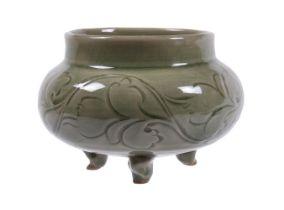 A 'Yoazhou' celadon tripod incense burner