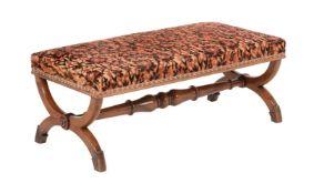 A George IV mahogany stool
