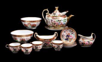 A Worcester (Barr, Flight, and Barr) Japan pattern part tea service