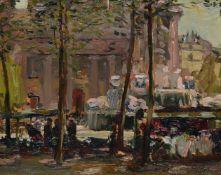 Alexander Jamieson (British 1873-1937), The Flower Market, St. Sulpice, Paris