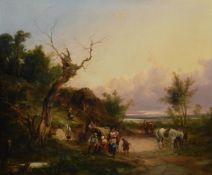 William Shayer Snr. (British 1787-1879), A Gypsy Camp