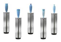λ Nancy Angus (b. 1958), a group of five coiled ceramic vases