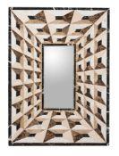 A geometric specimen marble mirror