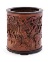 A good Bamboo 'Seven Sages' brush vase