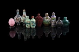 A group of seven Chinese snuff bottles
