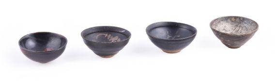 Four Jizhou black glazed bowls